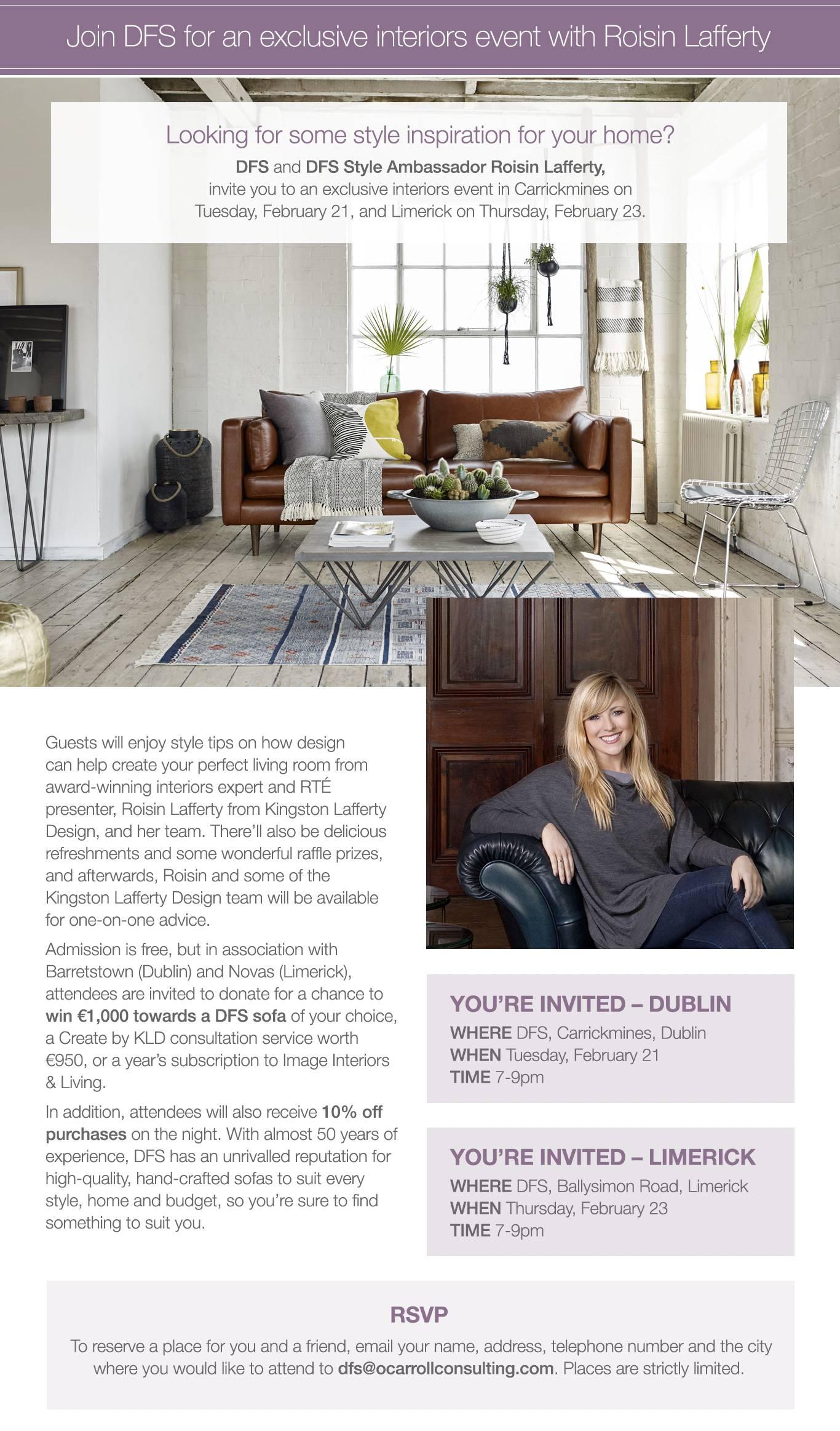 DFS Style Ambassador Roisin Lafferty
